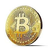 innoGadgets Physische Bitcoin Medaille mit 24-Karat Echt-Gold überzogen. Wahres Sammlerstück mit Schutzhülle, Münzkapsel. Perfekt für jeden Bitcoin-Fan