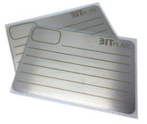 Bitplate Cold Wallet - Edelstahlplatten