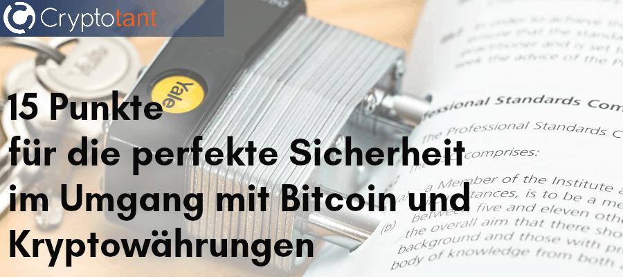 Perfekte Bitcoin Sicherheit