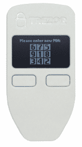 Trezor One - PIN-Code Eingabe