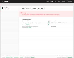 Trezor Wallet - Firmware updaten