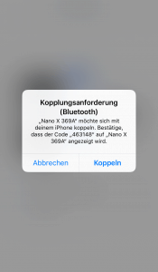 Ledger Live - Bluetooth Kopplungsanforderung