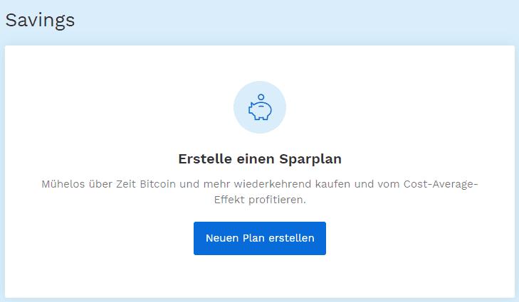 Bitpanda - Neuen Sparplan erstellen
