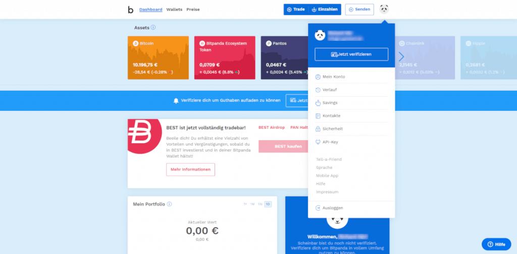 Bitpanda - Account verifizieren
