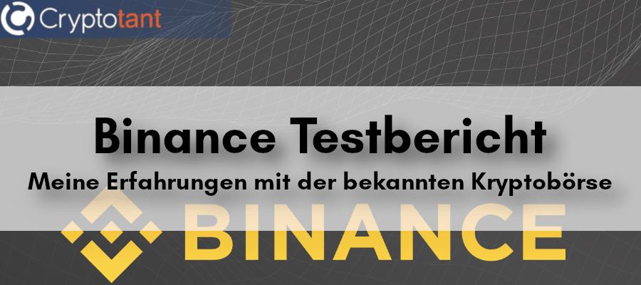 Binance Test Beitragsbild