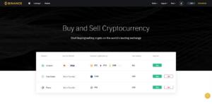 Binance - Kauf von Kryptowährungen mit Kreditkarte