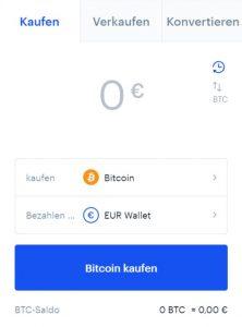Coinbase - Bitcoin kaufen