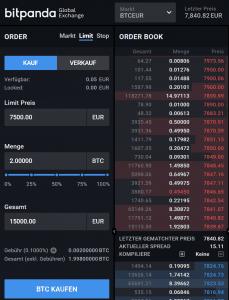 Bitpanda Pro - Limit Order