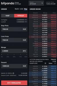 Bitpanda Pro - Stop Limit Order