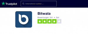 Bitwala - Trustpilot Bewertung