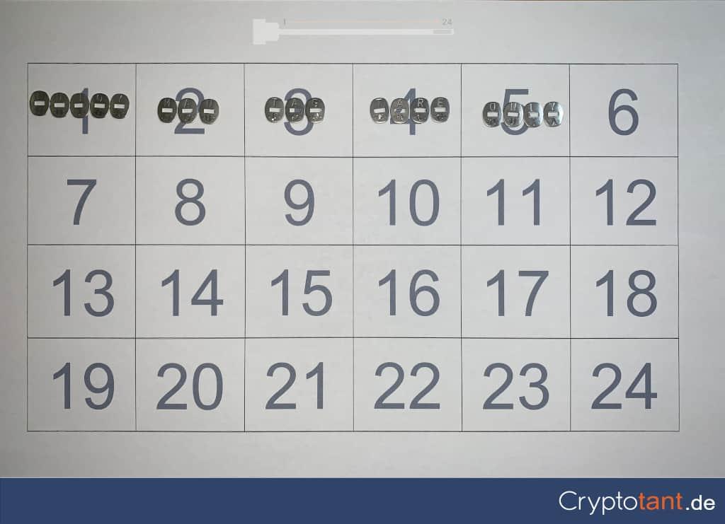 Cryptosteel Capsule Druckvorlage
