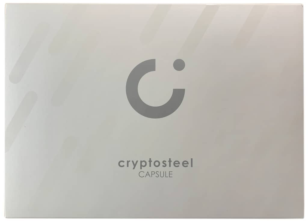 Cryptosteel Capsule Verpackung von Vorne