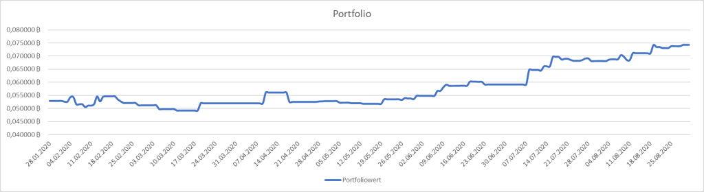 Positive Portfolio Entwicklung im August 2020